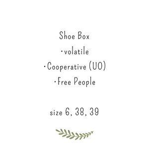 Shoe box free people urban volitile